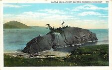 1920s Postcard; Battle Rock at Port Orford OR Roosevelt Highway Posted Curry Co.