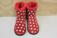 GIRLS UGG SWEETIE BOW BOOTS RED WHITE BLACK 1015772K SIZE 3 BOX NO LID
