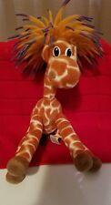 Cascade Toy Plush Giraffe with Koosh Type Rubber Hair