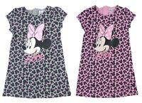 Girls Minnie Mouse Dress Leopard Print T Shirt Jersey Dress Summer Dress