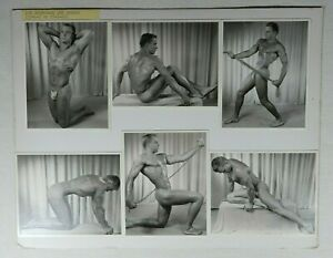 Vintage Model Card, 11x14, Male Nude, Physique Photography, WPG, Don Whitman