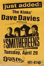 THE KINKS' DAVE DAVIES / THE SMITHEREENS 1997 SAN DIEGO CONCERT TOUR POSTER