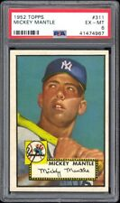 1952 Topps #311 Mickey Mantle PSA 6+ Recently Graded + Borderline PSA 7