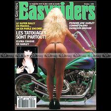EASYRIDERS N°232 CUSTOM BIKE & HARLEY-DAVIDSON ★ POSTER DAVID MANN ★ FRENCH 1992