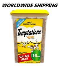 Temptations Classic Cat Treats Tasty Chicken Flavor 16 Oz WORLDWIDE SHIPPING