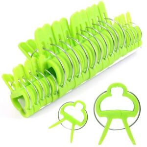 20x GARDEN PLANT CLIPS Tomato Tie Stem Orchid Support Weatherproof Grow Training