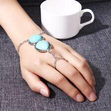 Ethnic Turkish Bohemian Hand Chain Turquoise Finger Bracelet Jewelry
