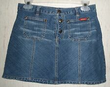 GIRLS AUTHENTIC GUESS JEANS DISTRESSED BLUE JEAN SKIRT   SIZE 14