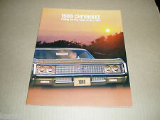 1969 Chevrolet Impala SS convertible Caprice Bel Air Biscayne sales brochure