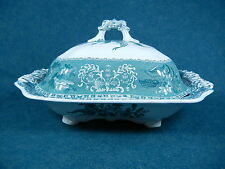 "Copeland Spode Green Camilla Large 11 7/8"" Covered Serving Bowl with Lid"