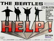 THE BEATLES - HELP - Canvas Print Movie Poster.