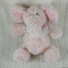 "Unipak Pink Elephant Plush Baby Lovey - Wears It's a Girl Bib Rattles 12"""