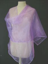 ETOLE écharpe châle stola shawl scarf MARIAGE MARIEE  ORGANZA  coloris parme
