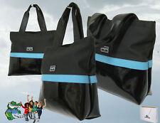 LACOSTE Womens Ladies  Shoulder TOTE Bag Pique Chic 3  Black AUTHENTIC