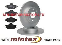 FIAT 500 1.2 8V (2008-) FRONT BRAKE DISCS AND PREMIUM MINTEX BRAKE PADS FULL SET
