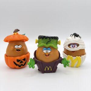 1992 McDonalds McNugget Nugget Buddies Halloween Mummy Pumpkin Frankenstein