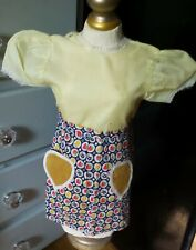 Vintage! Colorful Patterned Dress Hearts for Composition Hard Plastic Baby Dolls