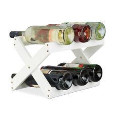 Weinregal Bambus 8 Flaschen Weinflaschenhalter X-Form Flaschenhalter Weinständer