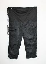 Unbranded Maternity Black Lace Front Pull On Legging Shorts Size S BNWT #TF90
