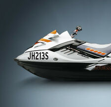 WHITE Boat Rego registration stickers Jetski seadoo SET OF 2 150mm High