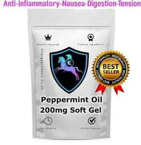 PEPPERMINT OIL 60 Softgels 200mg soft gels TABLETS CAPSULES INDEGESTION IBS