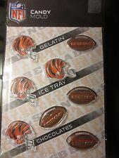 NFL CINCINNATI BENGALS MOLD gelatin ice cubes candy football molds