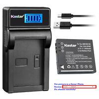 Kastar Battery LCD USB Charger for Panasonic SDR-S10 SDR-S10EB-K SDR-S10EG-K