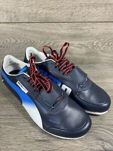 Puma BMW Motorsport Evospeed Driving Sneakers Shoes Men's 10 Blue White Red
