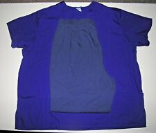 Fundamentals - Lot of 2 Scrubs - 2X purple top, L gray bottoms