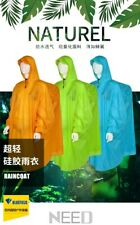 Poncho Raincoat Waterproof 15D Silicone Backpacking Rain Cover 4 Camping Hiking