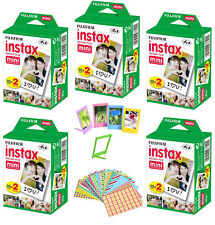 Fujifilm Instax Mini Instant Film, 5 Twin Packs (100 Sheets)+ Frames & Stickers