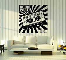 Wall Vinyl Decal Retro Party Accessories Cassette for Tape Recorder z4794