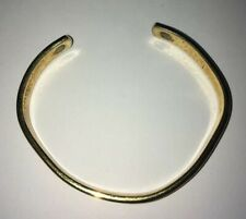 Vintage 24K Electroplated Gold And Silver Tone Cuff Magnets Bracelet