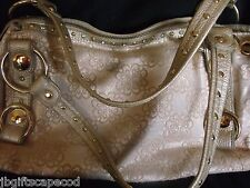 KATHY VAN ZEELAND HAND BAG - BEIGE SHEEN - LARGE - EUC - REALLY NICE - LQQK!!