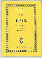 Händel : Concerto Grosso A-Dur Op. 6, No. 11  ~ Studienpartitur
