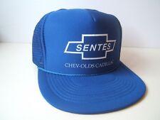 Sentes Chev Olds Cadillac Hat Vintage Chevrolet Dealer Blue Snapback Trucker Cap