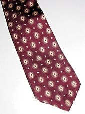 Christian Dior Necktie Red With White Diamonds and Dots 56 L 3.75 W