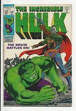 "1968 MARVEL COMICS~3-""THE INCREDIBLE HULK""~COMICS~#'s 110 F,112 F+, & 116 F"
