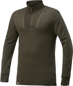 Gr.XL Woolpower Zip Turtleneck 200 pinegreen gebr. Unterhemd Pullover Longleeve