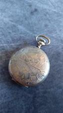 VINTAGE 0 SIZE ILLINOIS POCKET WATCH GRADE 33 RUNNING