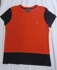 Ralph Lauren Active Women's L Shirt Top Orange Blue Colorblock Short Sleeves