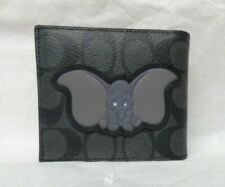 COACH 3 in 1 Signature DISNEY X WALLET DUMBO 91654  Charcoal Plum Multi nwt $198