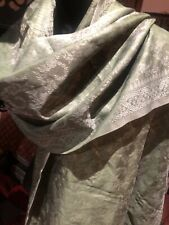 Vintage Green Scarf Silk Brocade Wrap