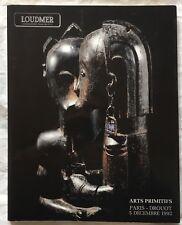 ARTS PRIMITIFS Afrique Amériques Océanie LOUDMER Décembre 1992