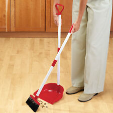 2 in 1 Long Handled Broom Set Duster Pan Kitchen Floor Dustpan Portable Sweeper