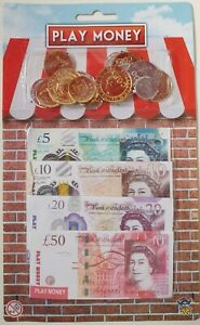 TOY PLAY MONEY KIDS PRETEND COPY STERLING UK NOTES AND COINS SHOPPING ROLE PLAY