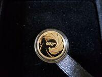 007 JAMES BOND  1/4 oz Gold .9999 James Bond limited edition Coin PROOF!