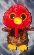 NEW TY BEANIE BABY BEANIE BOO~FEATHERS THE THANKSGIVING DAY TURKEY 6""