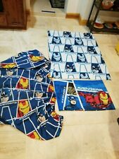 Marvel Avengers Assemble 3 Pc FULL Flat Top Sheet, Fitted Sheet, 1 pillowcase