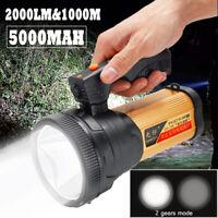1000M rechargeable LED Bougie Puissance Torche Lumière Lampe travail Projecteur
